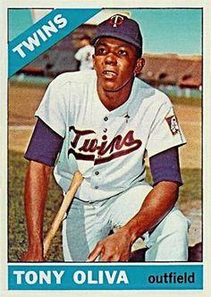 tony oliva baseball card | 1966 Topps Tony Oliva #450 Baseball Card