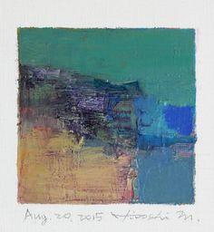 9x9 painting (aug202015) by Hiroshi Matsumoto