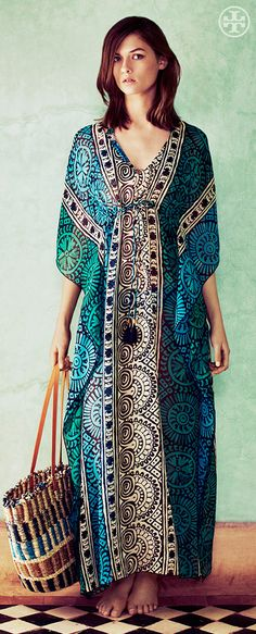 The Long Caftan: Vintage Glamour | Tory Burch Summer 2013
