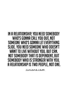 A relationship is two people not one