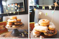 Party Food: Doughnut Cake {Easy Party Solution} - Super cute and EASY cake solution for parties!