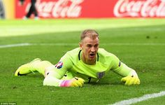 Hart looks stunned as he stares at the ball in the back of his net as England went in a goal down at the break