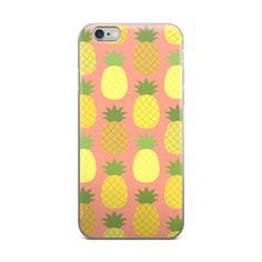 PARTY OF PINEAPPLES - CORAL - iPhone case 6/6s 6 Plus/6s Plus
