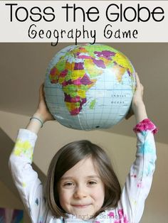 Toss the globe and call a country, the person who catches it needs to Find it. Teach kids geography in a hands on active way thought this gross motor game! Geography Games For Kids, Hands On Geography, Geography Activities, Geography Lessons, Teaching Geography, World Geography, Teaching Kids, Geography Quotes, Culture Activities