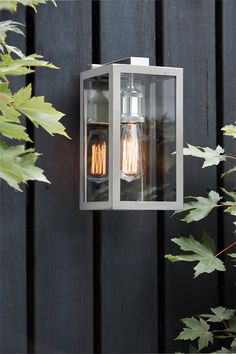 The Beacon Lighting Southampton 1 light large exterior wall bracket in stainless steel Beacon Lighting, Coastal Lighting, Porch Lighting, Outdoor Lighting, External Lighting, Modern Sconces, Light Installation, Traditional House, Wall Lights