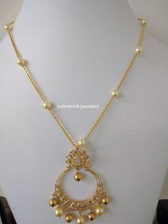 Ornament Fashion Jewelry Necklaces, Gold Jewelry, Beaded Jewelry, India Jewelry, Gold Necklace Simple, Simple Jewelry, Gold Chain Design, Gold Pendent, Wedding Jewelry