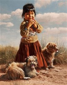 Artwork by Ray Swanson, The Navajos, Made of Oil on canvas