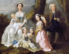 It's About Time: Children with Dolls - 1740 Francis Hayman (English artist, Samuel Richardson Surrounded by his Second Family Detail Still Life Oil Painting, Oil Painting For Sale, Cool Paintings, Beautiful Paintings, Creepy Kids, Art Through The Ages, Bless The Child, English Artists, Family Portraits