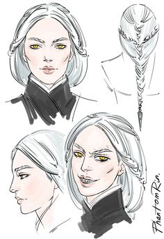"Oh, and here I was reminded I haven't posted THIS here. Manon concepts (""Throne of Glass"" by Sarah J.Maas @ sjmaas.tumblr.com/ )by Phantomrin"