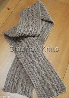 Triumph Cable Scarf Pattern ~ smariek knits