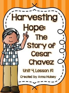 Harvesting Hope: The Story of Cesar Chavez - Activity Sheet | Just ...