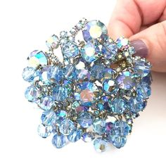 Juliana D&E Blue Dangle Floral Brooch Varying Sizes Blue Aurora Borealis Rhinestones Blue AB Crystal Bead Dangles Vintage Gift for Her http://ift.tt/1NgzWW4 #vintagejewelry #giftsforher #fashion #greatgifts #musthave #style #designersigned #repost #costumejewelry #vintagesterling #shopsmall #shopvintage #gifts4Her #MomBosses#shopetsy #plsfollow4updates #more2Come
