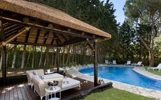 Elegant Andalucian Villa Kings and Queens Sotogrande Costa – Property Specialists Outdoor Gazebos, Outdoor Structures, Outdoor Decor, Gazebo Ideas, Roof Covering, Thatched Roof, Pool Bar, Decking, Costa