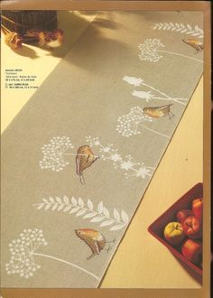 cross stitch table runner!