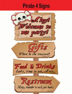 Beware of Pirates Decorate your party with our Directional Signs & Pirate Way Arrows from our awesome Pirates collection! > You get 3 directional signs + a welcome sign adding an authentic fun touch to your theme party. WHAT YOU GET This listing is for 8 PDF files with: * 4 signs at 11×8.5 * […]