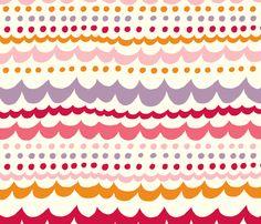 scallop_pink fabric by stacyiesthsu on Spoonflower - custom fabric