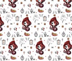 Bigger Ever After High Royal or Rebel fabric by awietylexi on Spoonflower - custom fabric now for sale