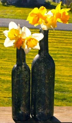 another idea for wine bottle decor