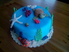 Nemo cake Nemo Cake, Desserts, Food, Tailgate Desserts, Deserts, Essen, Postres, Meals, Dessert