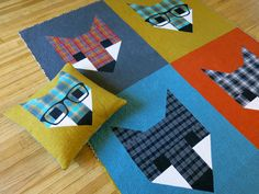 The bigger block pattern. This babh quilt is so cute. Fancy Fox II Quilt Pattern