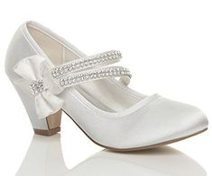 GIRLS CHILDRENS LOW HEEL STRAP BRIDESMAID PARTY FORMAL EVENING SHOES SIZE 1 Ajvani http://www.amazon.co.uk/dp/B00REH262M/ref=cm_sw_r_pi_dp_XsNKwb1NEY6JM