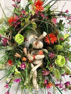 Spring Outdoor Wreaths, Bunny Wreath, Easter Wreaths for Front Door, Birch Wreath, Green Spring Wreath, Orange Wreath, Easter Wreath Bunny by LadybugWreaths on Etsy https://www.etsy.com/listing/592772569/spring-outdoor-wreaths-bunny-wreath
