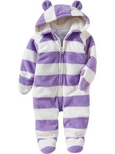 Old Navy | Micro-Performance Fleece Hooded One-Pieces for Baby | Must have for JJ!