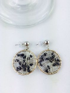 14 K Solid White Gold Earrings with Black Diamond Gold Earrings, Drop Earrings, Black Diamond, White Gold, Collections, Jewelry, Gold Stud Earrings, Jewlery, Jewerly