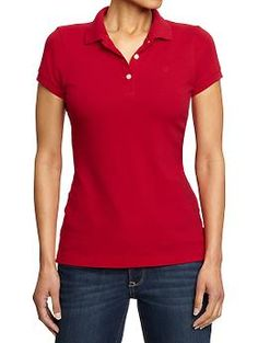 Womens Pique Polos - material: opaque weight: heavy