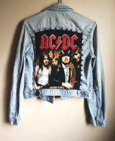 Vintage AC/DC Highway to Hell Metal Studded Denim by TheGasStation