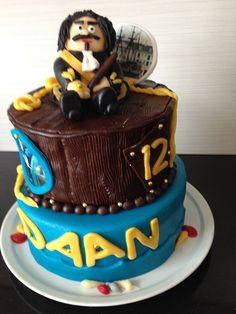 Voor Daan een echte Michiel de Ruyter taart. 28 juni 2014.