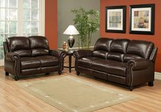 Ashley Leather Sofa and Loveseat   ... Reclining Sofa and Loveseat Set By Abbyson L living room sofas