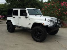 "Select Jeeps Custom ""15th Anniversary Edition"" 2014 White Unlimited Sahara = Super Nice!!!! http://www.selectjeeps.com/inventory/view/7760750?2014+Jeep+Wrangler+Unlimited+4WD+4dr+Sahara+League+City+TX"