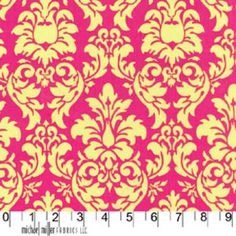 Michael Miller House Designer - Mod Basics - Dandy Damask in Watermelon ~ I pretty much want all of the MM damasks...