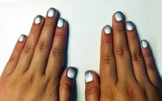 White and black ombré