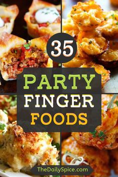The best party finger foods that will make you the hit of the party! Bring these easy party appetizers to your next party or family gathering and be sure to impress the guests! Cold Party Appetizers, Finger Food Appetizers, Party Snacks, Party Party, Party Time, Party Ideas, Appetizer Buffet, Appetizer Recipes, Bite Size Snacks