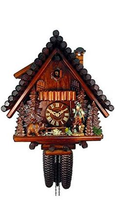 Trenkle Kuckulino Black Forest Clock with Quartz Movement and Cuckoo Chime TU 2048 SQ