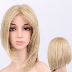 Short Straight Asymmetric Middle Parting Synthetic Wig Middle Parts, The Middle, Wig Cap, Sammy Dress, Synthetic Wigs, Hairstyles With Bangs, Join, Lovers, Free Shipping