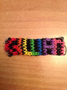 My name in a rainbow loom bracelet