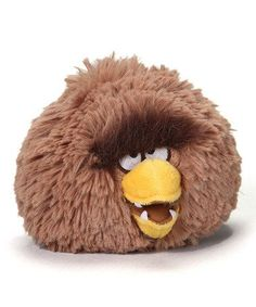 Looking for a goofy plush toy? This plush Chewbacca bird from Angry Birds Star Wars is awesome. There are so many to collect!