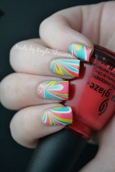I seriously need to learn how to do the water marble!