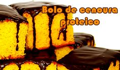 Receita de bolo de cenoura proteico com Whey Protein da musa fitness Gracyanne Barbosa. Whey Recipes, Gluten Free Recipes, Cooking Recipes, Healthy Recipes, Bolo Whey, Comidas Light, Flexible Dieting, Chocolate, Cravings