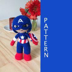 Captain America Amigurumi Crochet Doll Pattern
