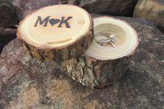 Ring Bearer Box, Wedding Ring Box, Ring Pillow Box, Engagment Ring Box Made From Reclaimed Oak on Etsy, $28.99