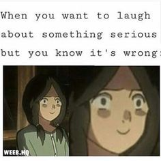 lol or when you are laughing about Mikasa saying Sasha farted