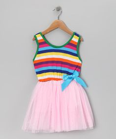 Take a look at this Pink Stripe Dress - Girls by Sweet Bluette on #zulily today!