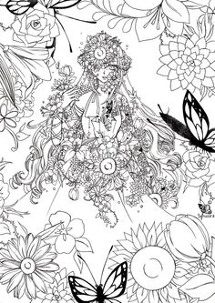 Adult Printable Coloring Pages Fairy