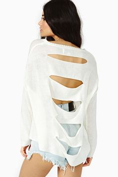 Fragment Knit - Ivory in Clothes Tops Sweaters at Nasty Gal