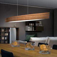 93342 Fornes LED Oak Steel & Wood Pendant From Eglo Lighting - Davoluce Lighting Pendants