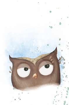 owl from 'O Segredo da Floresta' illustrated by Carla Nazareth